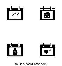 calendar icon set