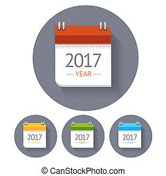 Calendar Icon Set. Vector