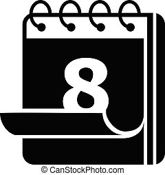 Calendar icon, simple style - Calendar icon. Simple...