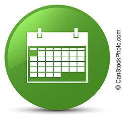 Calendar icon soft green round button