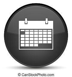 Calendar icon special black round button