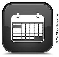 Calendar icon special black square button
