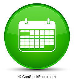 Calendar icon special green round button
