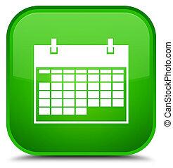 Calendar icon special green square button