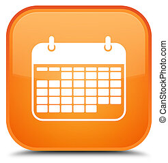 Calendar icon special orange square button
