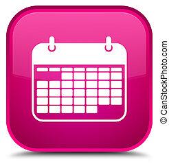 Calendar icon special pink square button