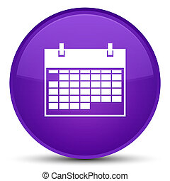 Calendar icon special purple round button