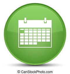 Calendar icon special soft green round button