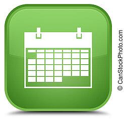 Calendar icon special soft green square button