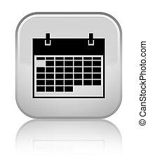 Calendar icon special white square button