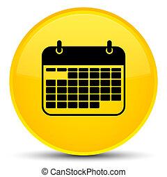 Calendar icon special yellow round button