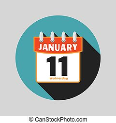 Calendar Icon Vector flat design style