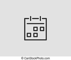 Calendar icon vector flat line design