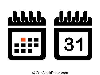Calendar icon. Vector illustration.