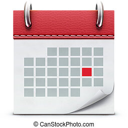 calendar icon - Vector illustration of detailed beautiful...