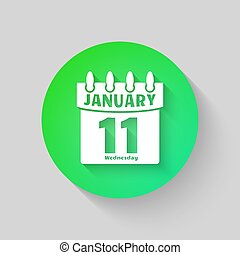 Calendar icon vector. Isolated on a gray background