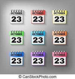 Calendar icon vector set