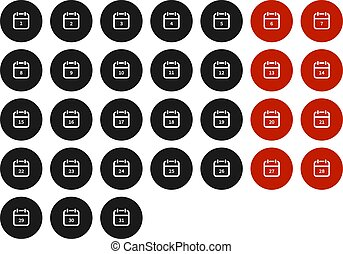 Calendar icon. vector symbol isolated on white background