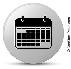 Calendar icon white round button