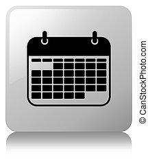 Calendar icon white square button