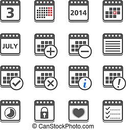 Calendar Icons - Set of calendar icons, vector eps10...