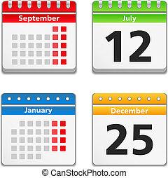 Calendar Icons, vector eps10 illustration