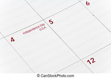 Independence day - Calendar, Independence day, close up shot...