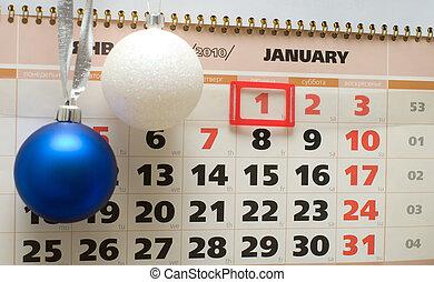 Calendar, January 2010.