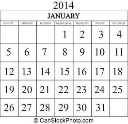 Calendar January 2014
