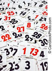 Calendar Leaves - Individual blades of a day calendar