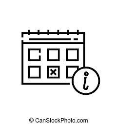 Calendar line icon, concept sign, outline vector illustration, linear symbol.