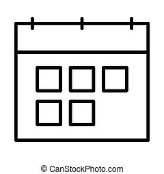 Calendar line icon. Vector symbol in outline style