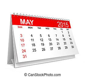 calendar., mai, 2015
