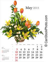 calendar., may., 2015