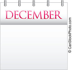 December - Calendar Month December With Custom Love Font