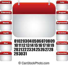 calendar month icon - calendar all month. icon for web
