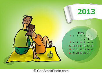 Calendar month of May.