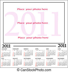 Calendar, New Year 2011