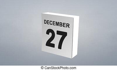 Calendar new year celebration.