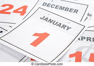 Calendar New Year's Day