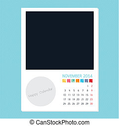 Calendar November 2014, Photo frame background