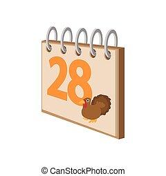 Calendar november 24 cartoon icon