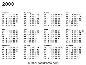 2008 naptár Calendar of 2009. Portrait oriented calendar grid of 2009 year. 2008 naptár