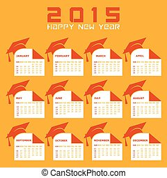 Calendar of 2015 with education