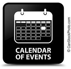 Calendar of events black square button