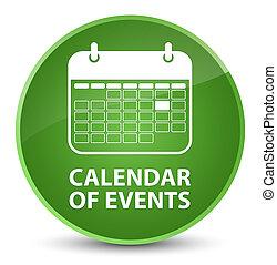Calendar of events elegant soft green round button