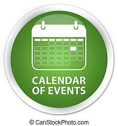Calendar of events premium soft green round button