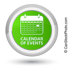 Calendar of events prime soft green round button