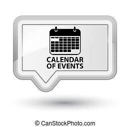 Calendar of events prime white banner button