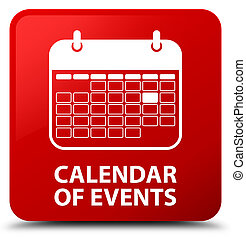 Calendar of events red square button